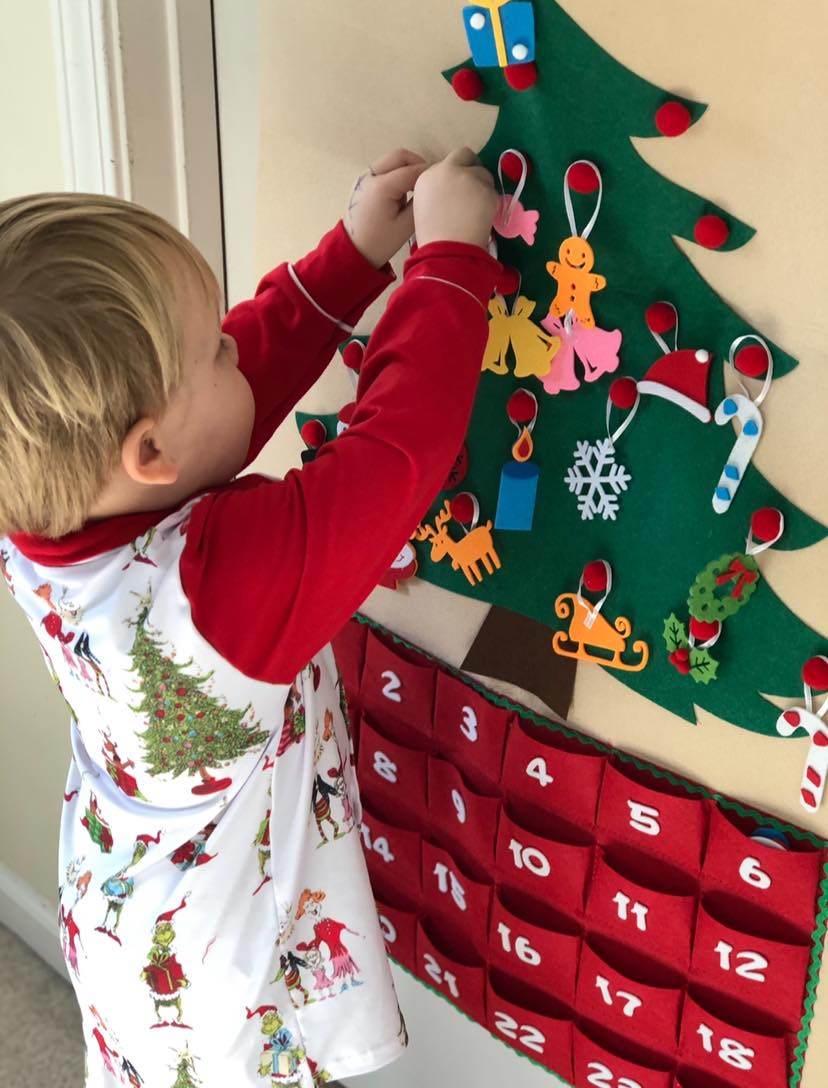 Felt Play Christmas Tree Advent Calendar
