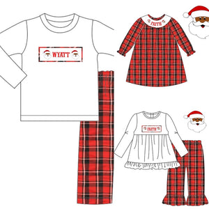 Custom Name Santa Smocked Collection