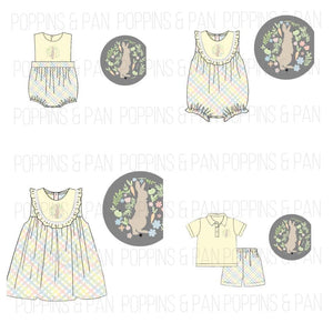 Pastel Bunny Embroidered Collection - Bubbles