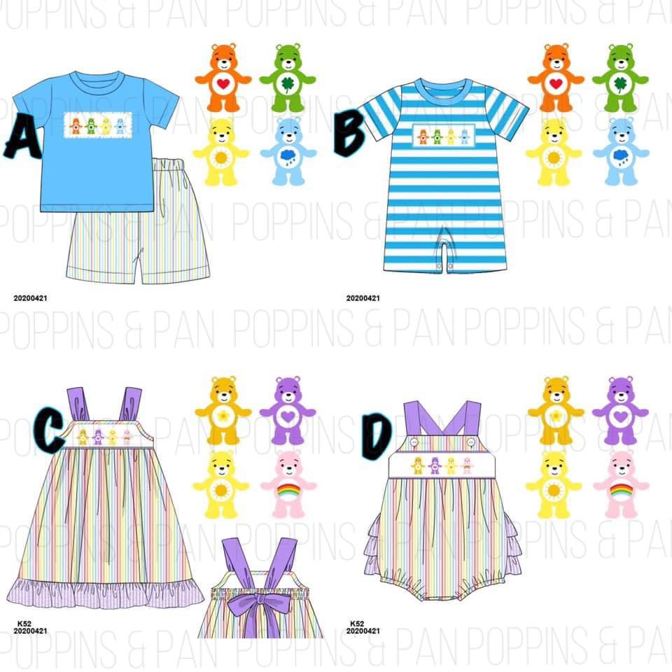 Smocked Care Bears Collection