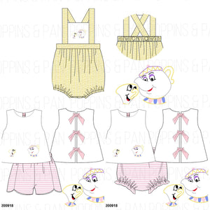 Disney Embroidered & Applique Collection - Bloomer Sets, Bubbles, & Rompers