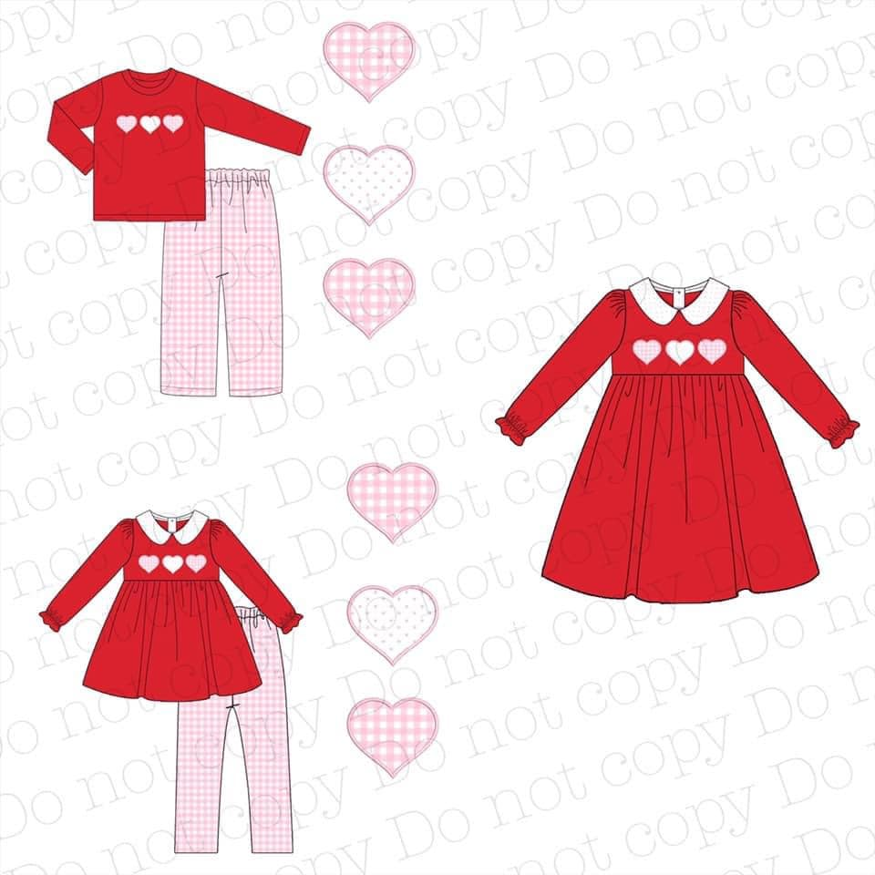 Red Valentine's Appliqué Collection