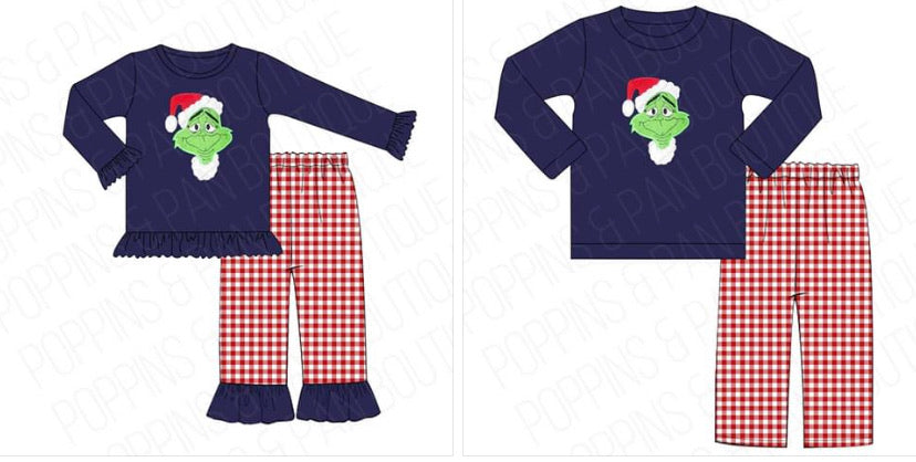 Grinch Applique Sets