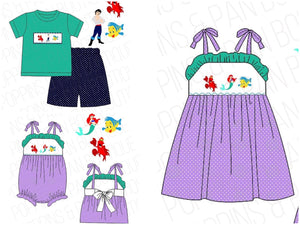 The Little Mermaid Smocked Collection