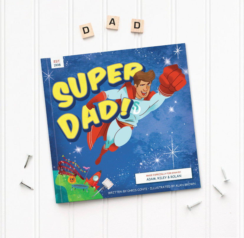 Personalized Super Dad Book