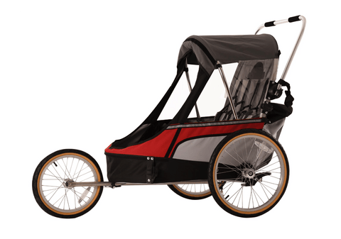 Image of Wike-premium-double-rood-fietskar-babyjogger