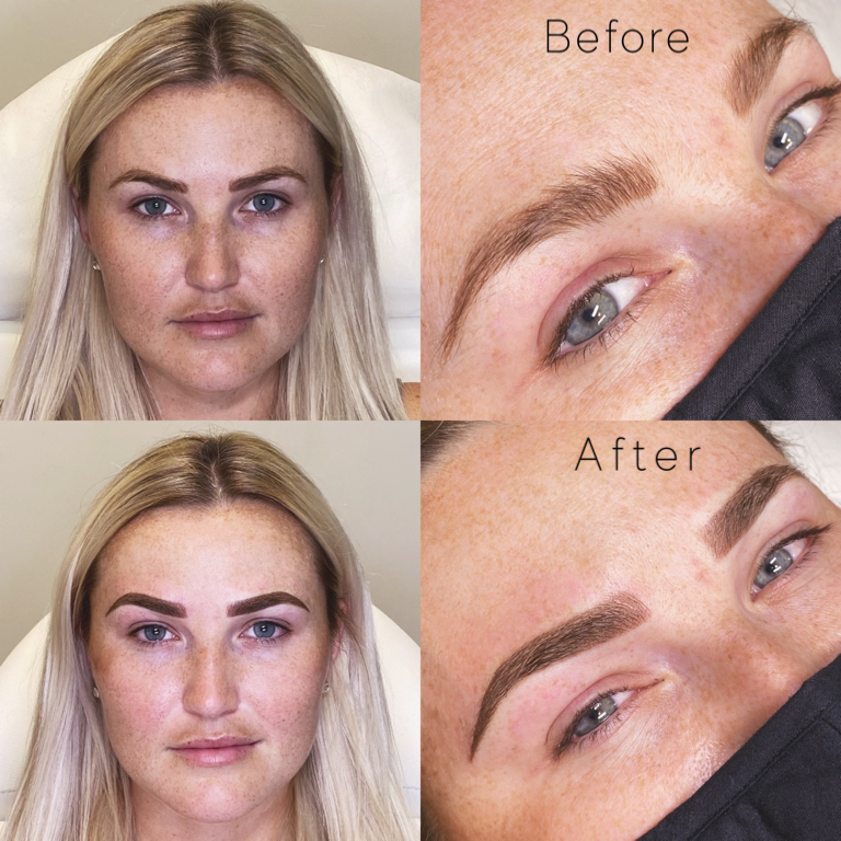 Ombré Powder Brow Touch up- Previous Microblading Client