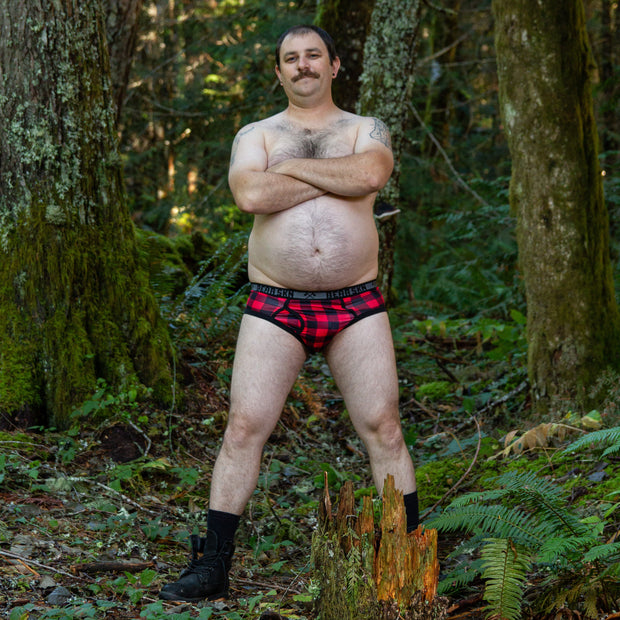 Backwoods Red Bamboo Brief 2.5 1