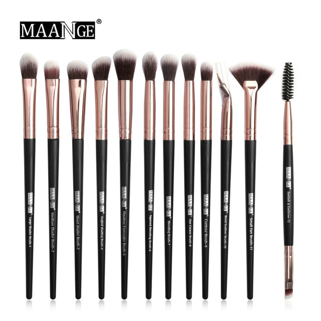 MAANGE Pro  3/5/12 pcs/lot  Makeup Brushes Set Eye Shadow Blending Eyeliner Eyelash Eyebrow Brushes For Makeup New