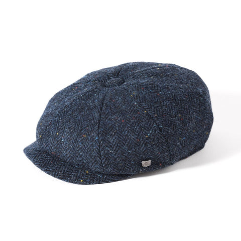 Harris Tweed Baker Boy - Navy Herringbone Fleck