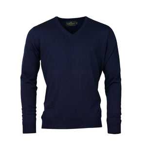 Sussex V-neck - Navy