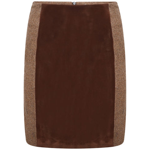 Kemerton Skirt - Bay Herringbone