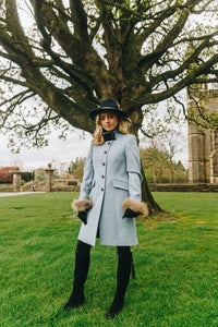 Burghley Coat - Ice Blue