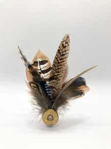 Harris End Feather Pin: All Natural