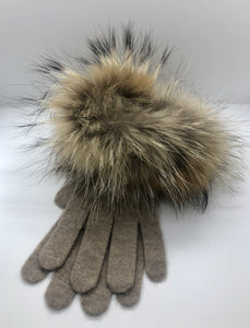 Cashmere Gloves - Organic Brown