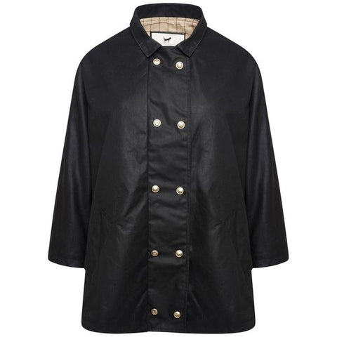 Rendcombe Wax Cape - Black