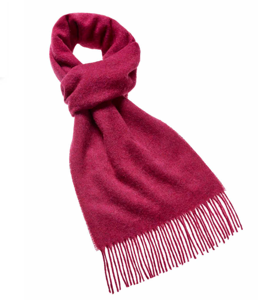 Moon Plain Bright Pink Scarf (25cm)