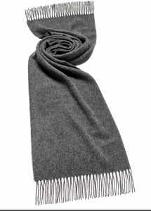 Moon Plain Grey Scarf (70cm)