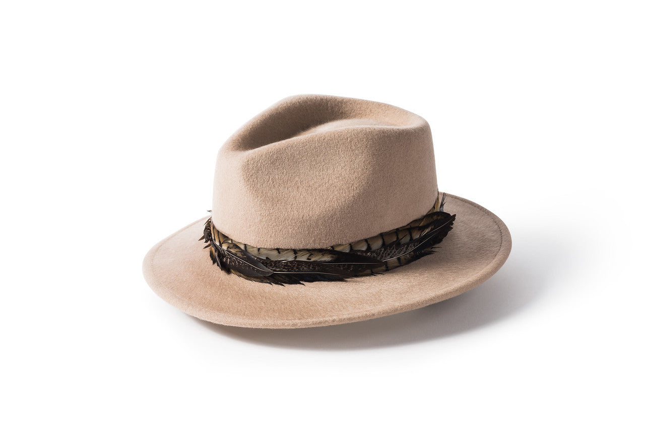 Feather Band Fedora - Putty