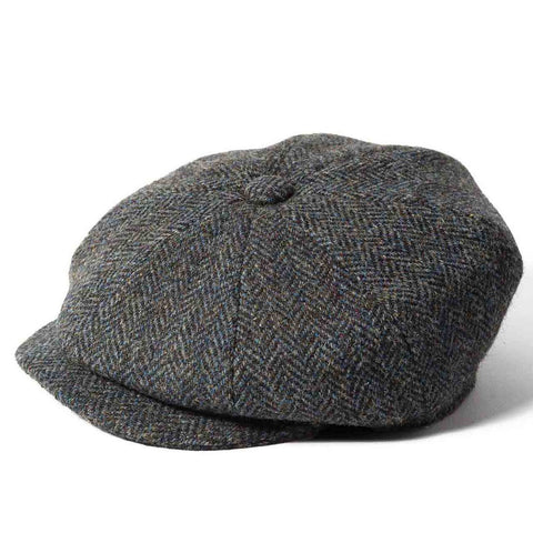 Harris Tweed Baker Boy - Grey Windowpane