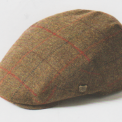 Harris Tweed Flat Cap - Gamekeeper Brown