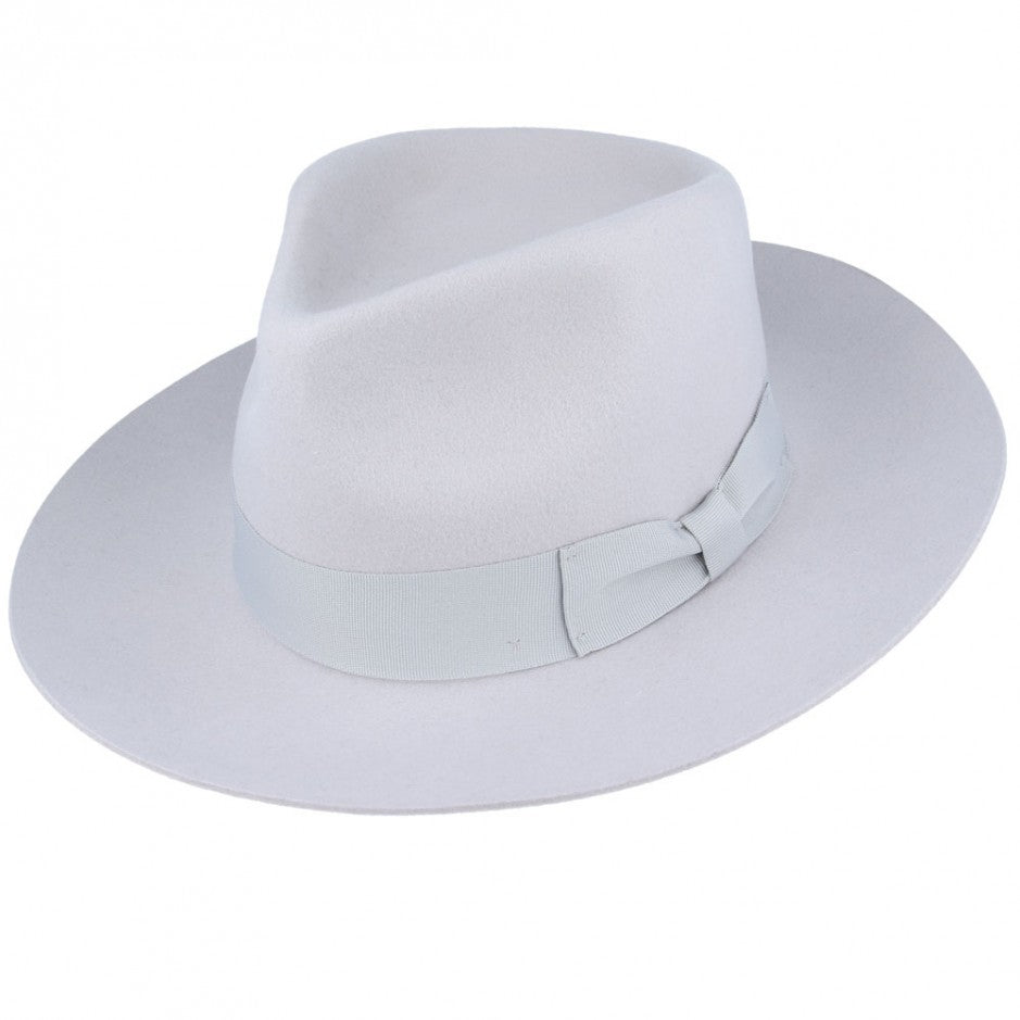Snap Brim Fedora Rice Grey