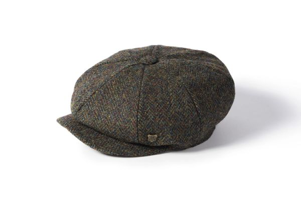 Harris Tweed Baker Boy - Multi Green