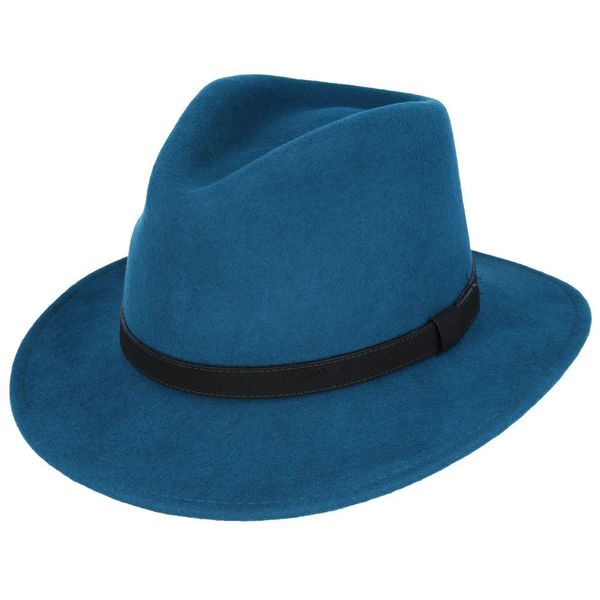 Fedora Leather Band Teal