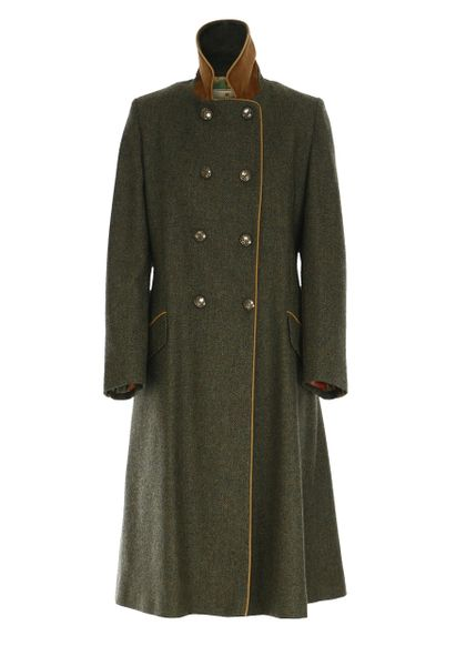 The Coat - Racing Green Herringbone