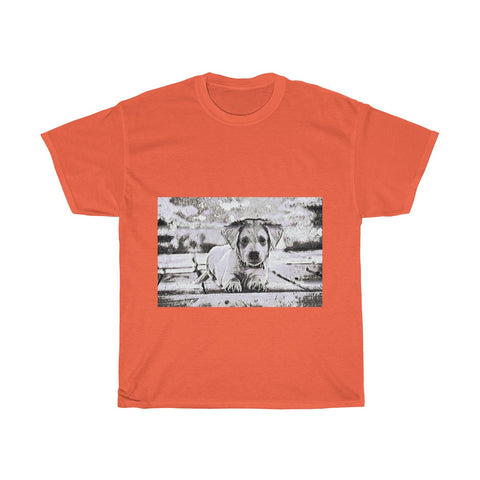 Image of Dog, Cute, Animal, Creative, Artistic, Unisex Tee Shirt