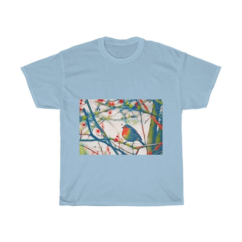 Colorful Bird, Tree, Forest Artistic, Unisex Tee Shirt