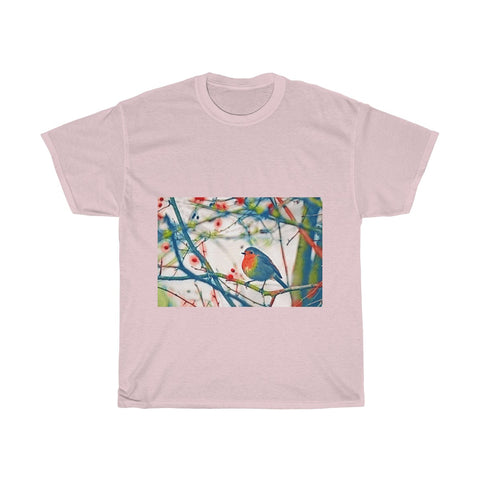 Image of Colorful Bird, Tree, Forest Artistic, Unisex Tee Shirt