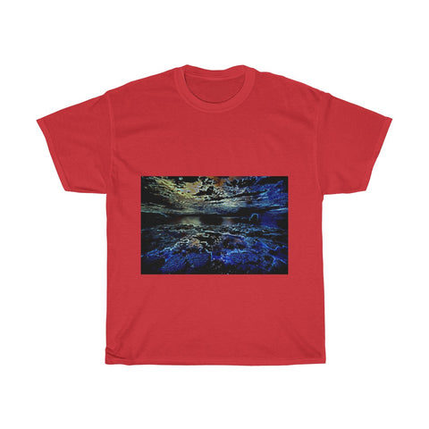 Beach Rocks, Scenery, Nature, Landscape, Creative, Artistic, Unisex Tee Shirt