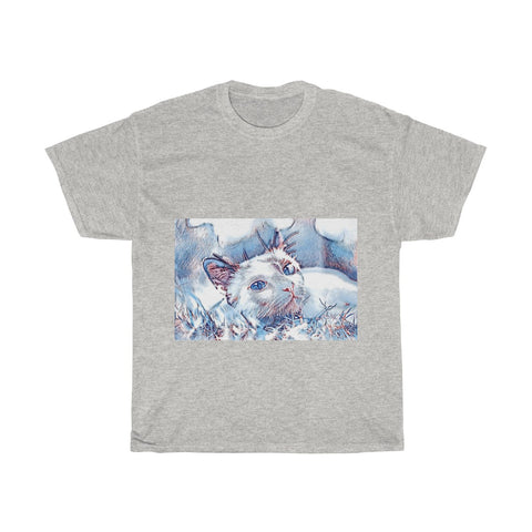 Image of Cat, Cute, Animal, Creative, Artistic, Unisex Tee Shirt