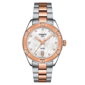 Tissot PR 100 Sport Chic with diamonds Rose Gold 2Tone