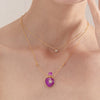 ALACRITY | Amethyst Gold Plated Necklace