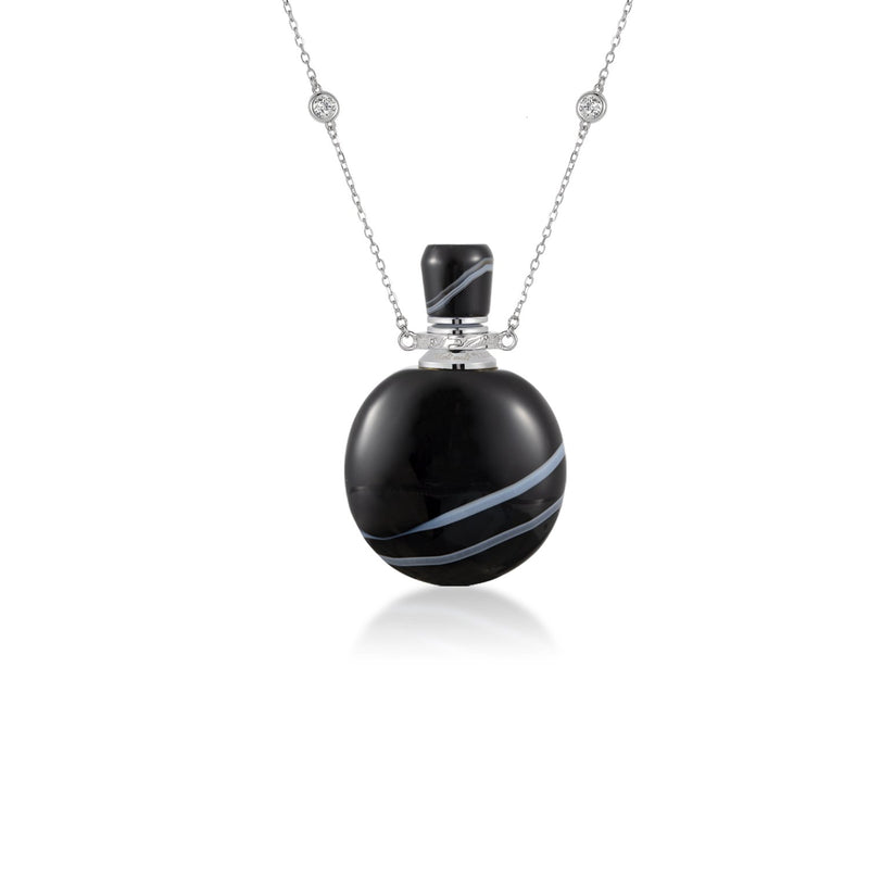 AEGIS | Black Stripe Agate Pendant Neck Piece