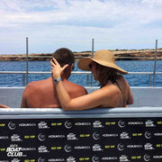 couple enjoying the view on ibiza boat club