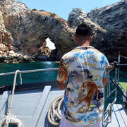 guy with view on ibiza boat club