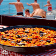 paella on the boat of cirque de la nuit