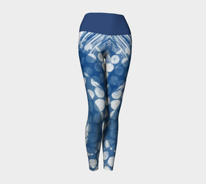 Octopus yoga leggings with blue band