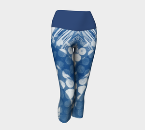 Octopus yoga capris with blue band