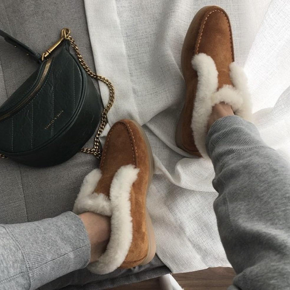 Ankle Wool warm Leather