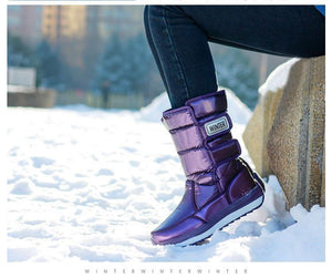 Waterproof Winter Shoes With Thick Fur