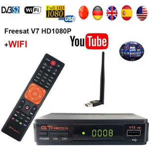 Freesat V7S HD FTA Digital Satellite TV Receiver DVB-S2/S Support BissKey 1080P US plug