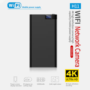 HD 4K 10000mAh WiFi Power Bank Camera Wireless Motion Detection Night Vision Security Camera Nanny Cam Home and Office black