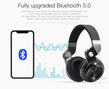 Load image into Gallery viewer, Bluedio T2S Wireless Headphones Foldable Bass Bluetooth Headset with Microphones for Phone - Black