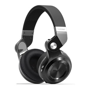 Bluedio T2S Wireless Headphones Foldable Bass Bluetooth Headset with Microphones for Phone - Black