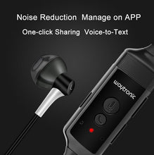 Load image into Gallery viewer, Phone Call Recorder Mobile Earphone for iPhone Skype WeChat Facebook Voice Call Recording  black