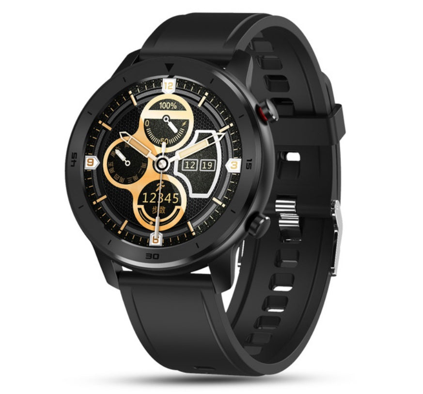 DT78 Smart Watch Sports Smartwatch Fitness Bracelet B1.3inch Full Touch Screen 230mAh Battery IP68 Waterproof Health Monitor Brown silicone band